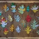 Jewel Encrusted Leaves