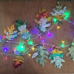 Jewel Encrusted Leaf Garland