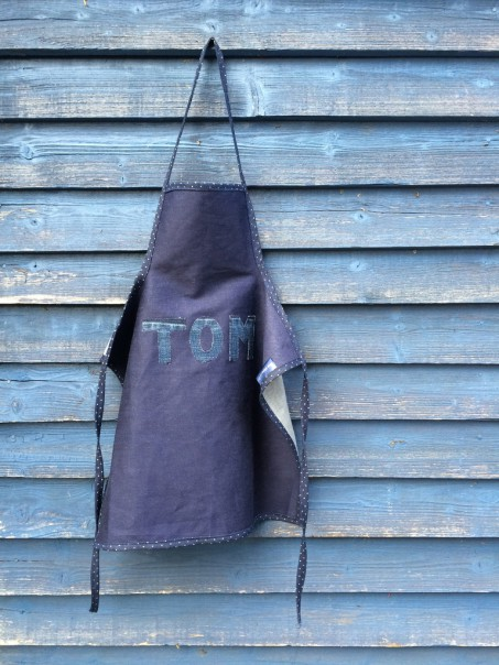Personalised name apron.