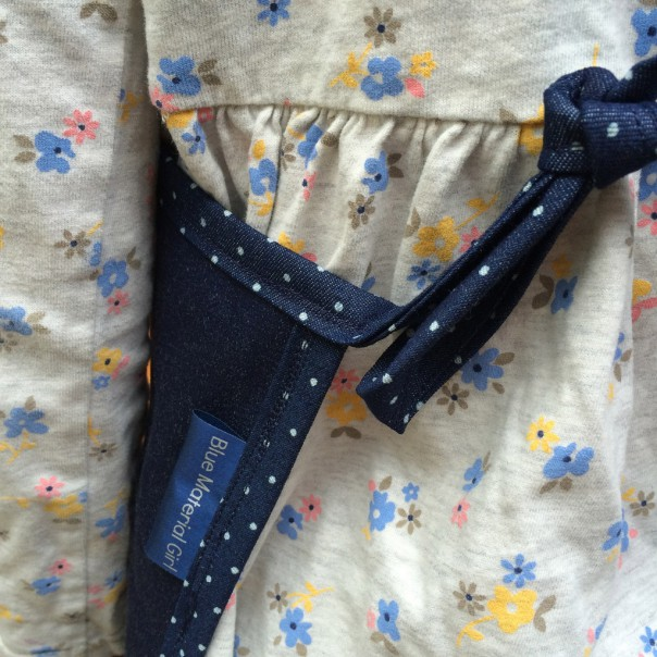 Each apron is made from hard wearing denim with double stitched edges.