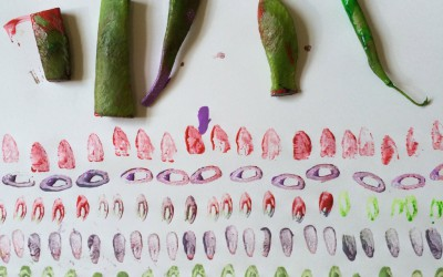 Runner beans and french beans made some really nice patterns.