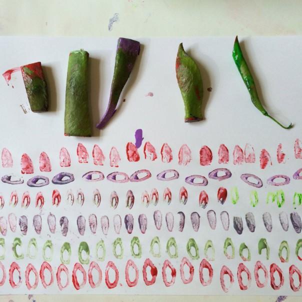 Vegetable printing.