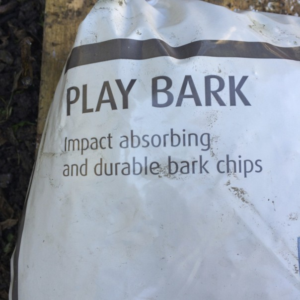 Play bark. I got all the materials I needed from B&Q.