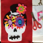 The girl's sugar skull.
