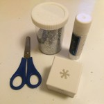 All you need are scissors, a paper punch and a gluestick. Glitter is optional!