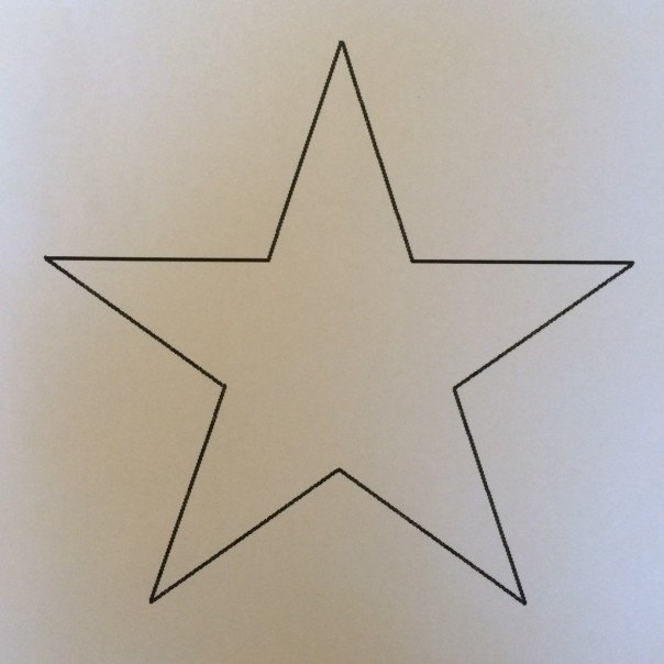 Star template. I found it online and printed it out.