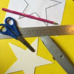 What you'll need: an empty cereal box, star template, scissors, pencil, ruler and craft knife.
