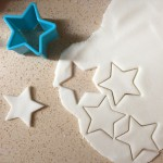 Roll out the modelling clay and cut shapes.
