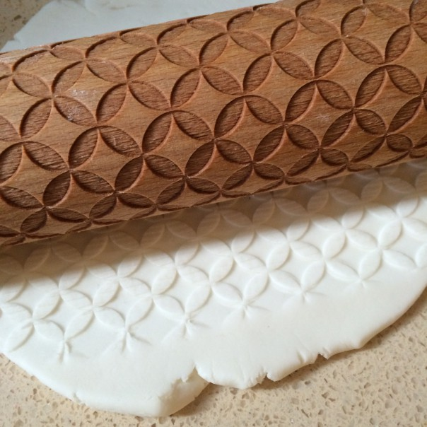 I got given this wonderful rolling pin for my birthday one year and it makes beautiful patterns as you roll.