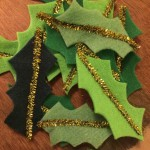 Sew a batch of leaves with golden pipe cleaners for a bit of contrast.