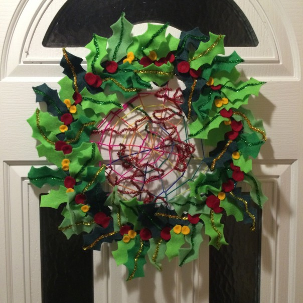 The finished wreath.
