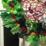 Felt Christmas holly wreath.