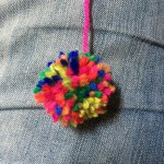 A finished pom pom.