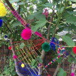 We yarn bombed the fig tree in our garden.