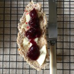 Soda bread, butter and Grandpa's raspberry jam. Yumm.