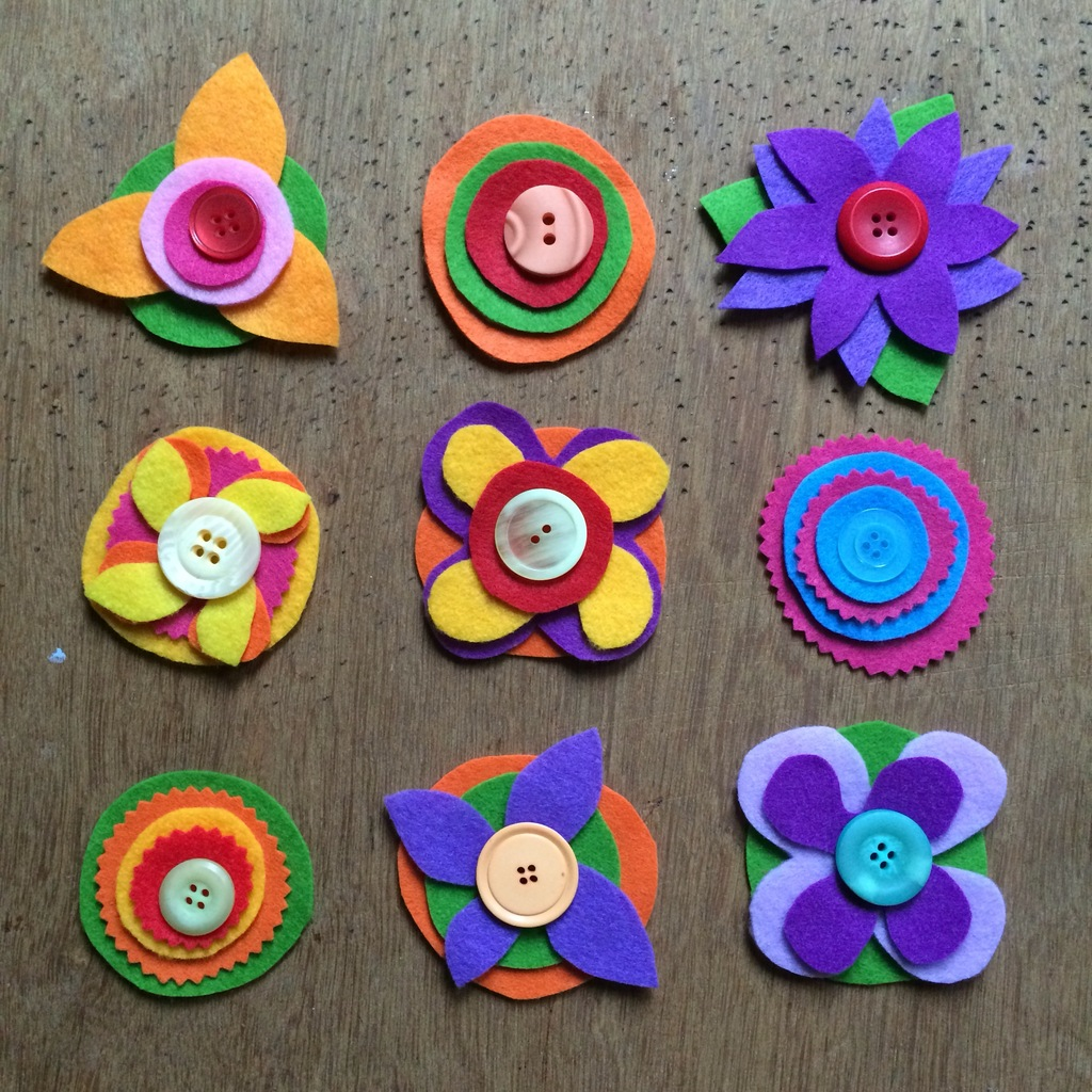 Felt Flower Brooch Craft