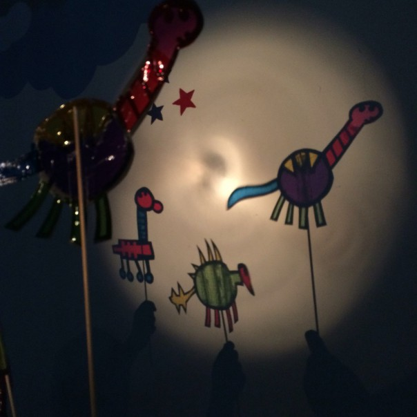 We had great fun playing with the shadow puppets. We used a torch shining on a wall to see our puppets come to life.
