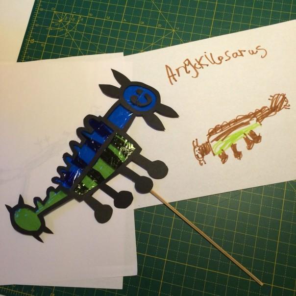 The boy's ankylosaurus.
