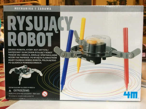 Our drawing robot was a Christmas present.