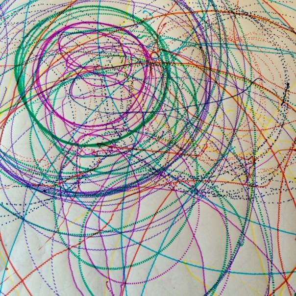 Robot drawing.
