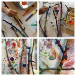 Get stuck in! Paint, dab, finger paint and glitter.