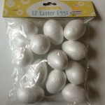 Polystyrene eggs. I found these in the pound shop. Twelve for £1 - a bargain!