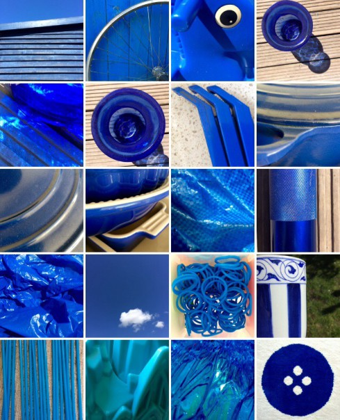 Rainbow collection: blue.