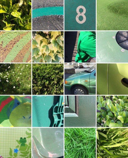 Rainbow collection: green.