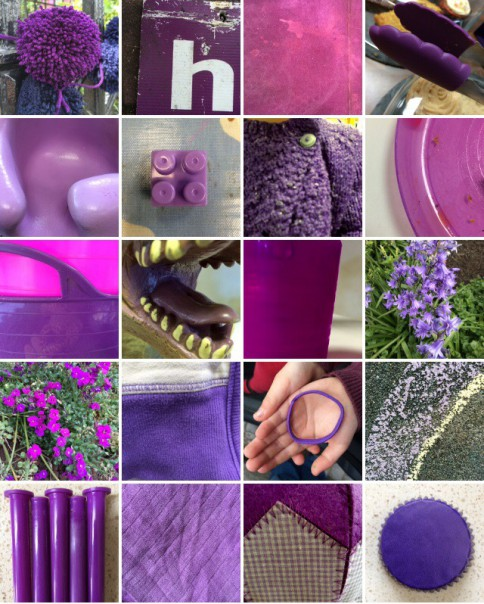 Rainbow collection: violet.