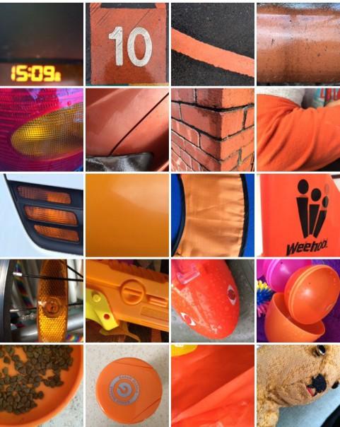 Rainbow collection: orange.