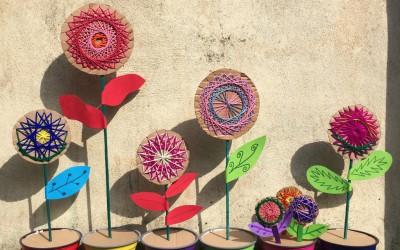 Woven Wool Flowers