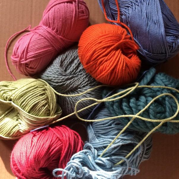 Wool and yarn.