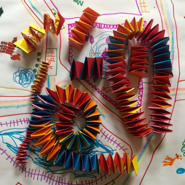 What could you turn your accordion paper chains into?