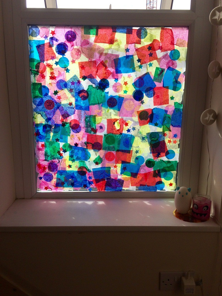 Tissue Paper Stained Glass Colourful Minds