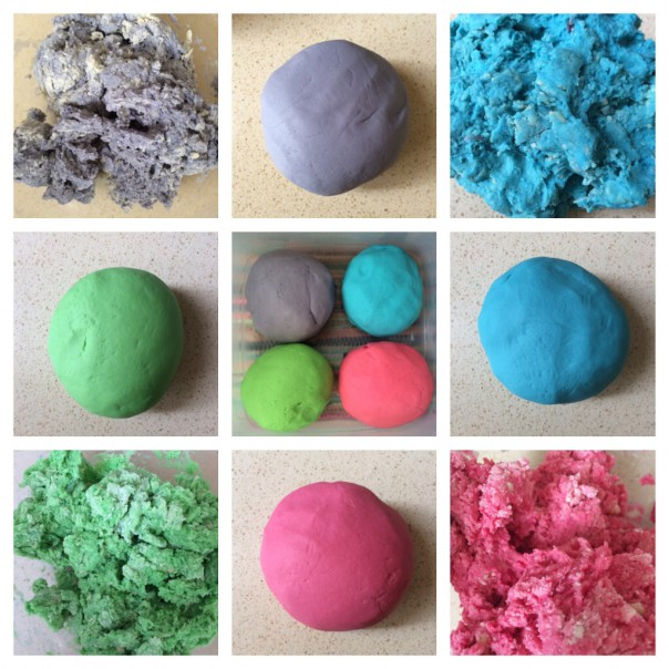 I made 4 quantities of play dough. Store in an airtight tin/container for up to 6 months.