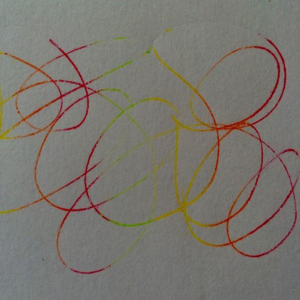 Fine lines magic drawing.