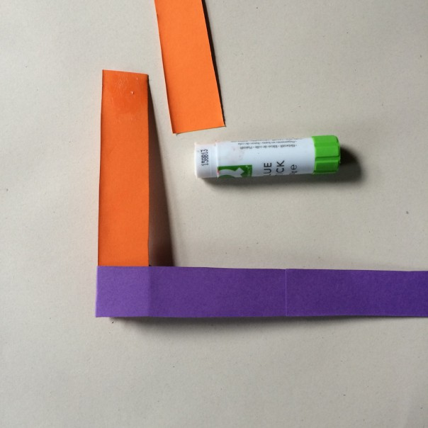 Attach more strips with glue to make a longer chain.