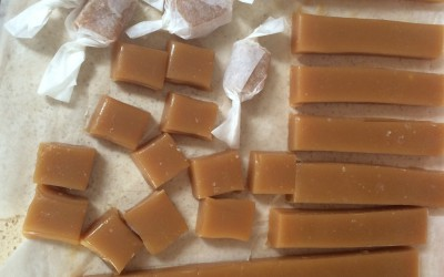 This recipe made nearly a hundred caramels!