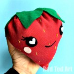 Red Ted Art's Strawberry Plushie.