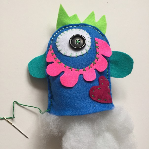Picture 7: Stuff your Love Monster till it's nice and cuddly.