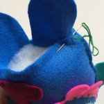 Picture 8: Sew the bottom edge together including the leg shapes.