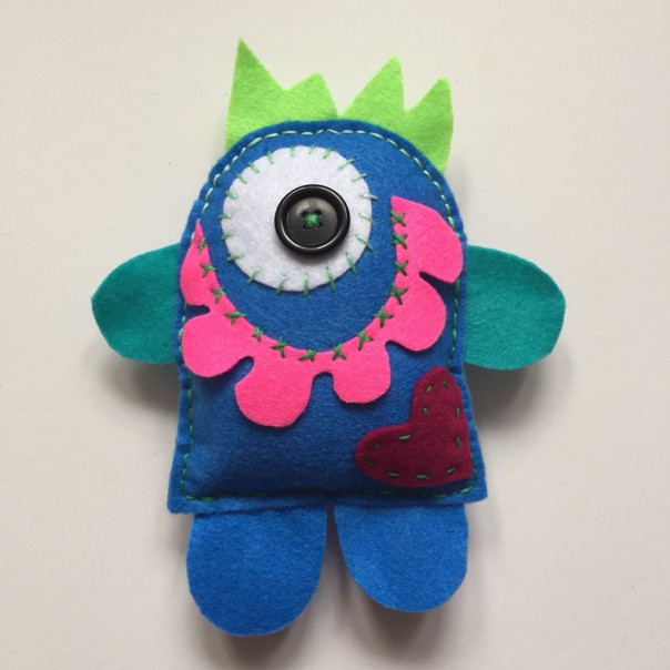 Picture 1: Meet Cariad (pronounced carry-ad) the Love Monster.